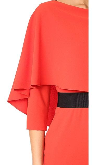 alice + olivia Cairo 3/4 Sleeve Boat Neck Dress