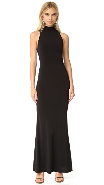 alice + olivia Erika Mock Neck Maxi Dress