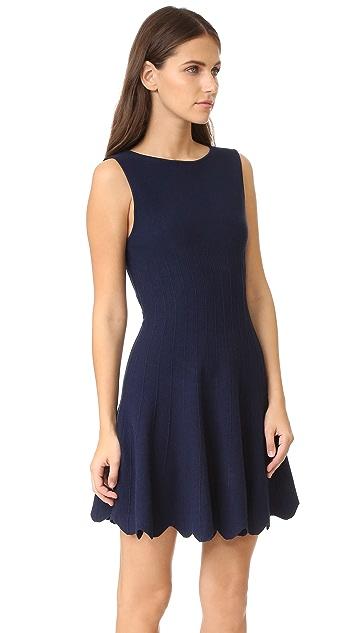 alice + olivia Paulie Scalloped Dress