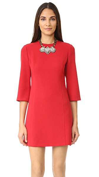 alice + olivia Gem 3/4 Sleeve Shift Dress at Shopbop