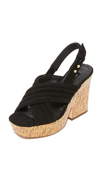 alice + olivia Charlize Platform Sandals - Black