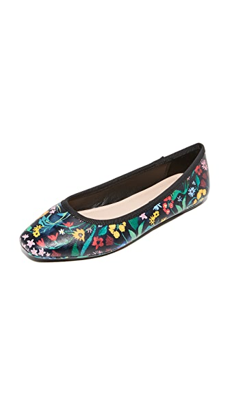 alice + olivia Whitney Flats - Multi/Black
