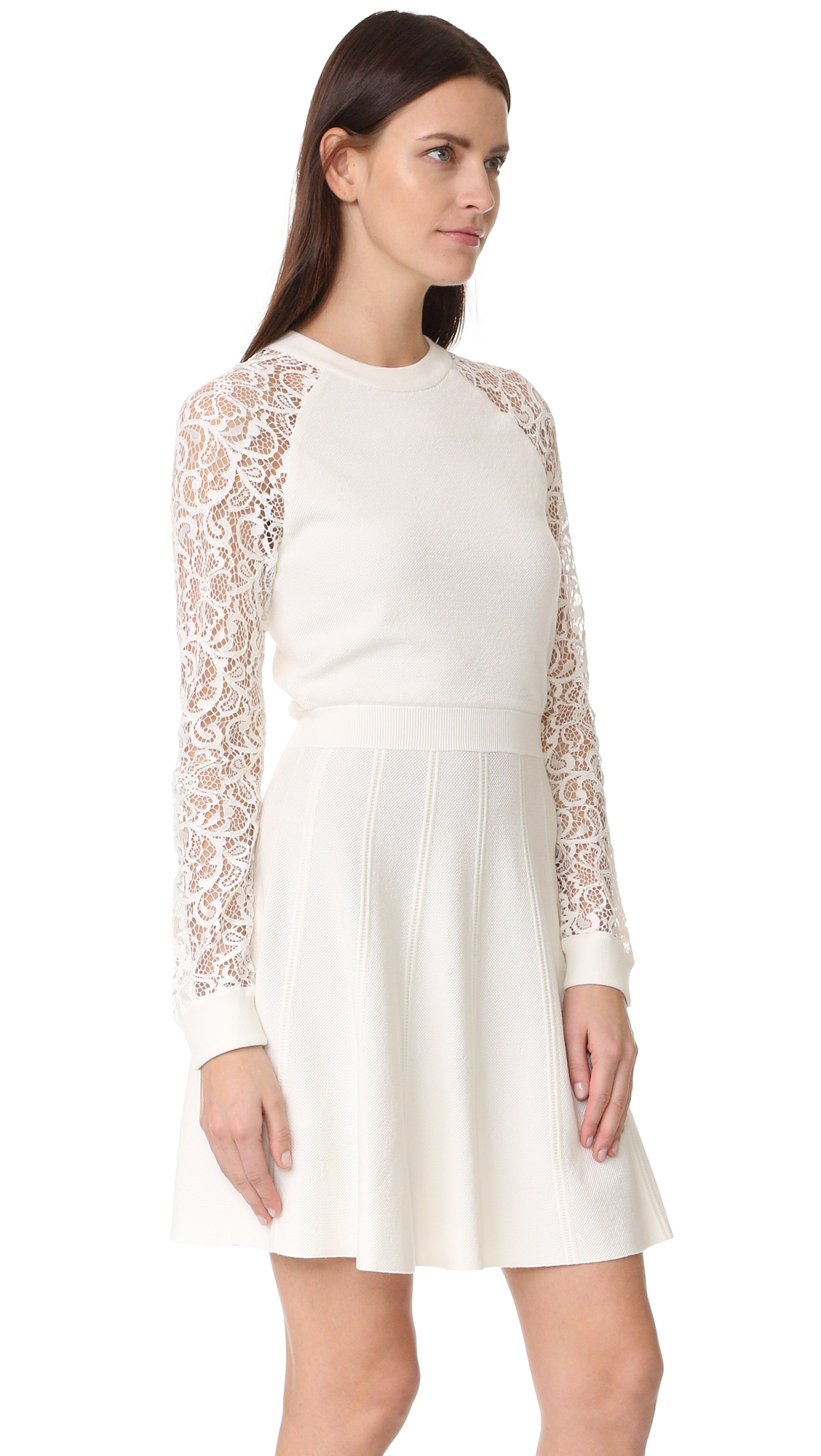 Alice and olivia lace white dress