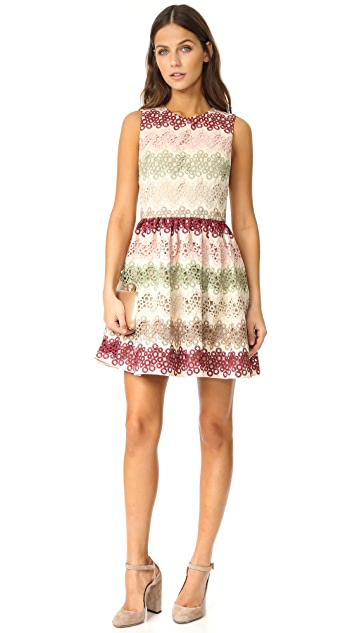 alice + olivia Joyce Crew Neck Party Dress