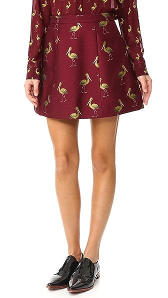 alice + olivia Структурированная юбка-трапеция Loran