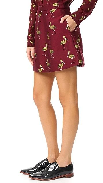 alice + olivia Loran Structured Lantern Skirt