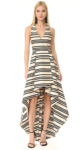 alice + olivia Aveena High Low Gown at Shopbop