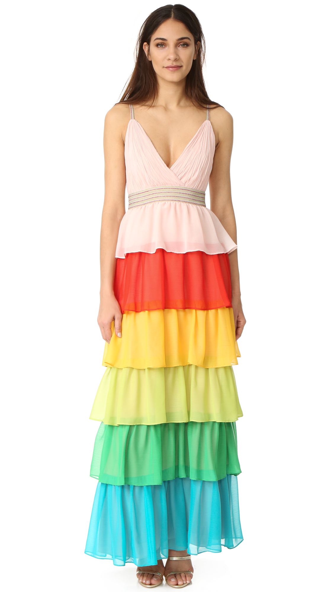 alice + olivia Luba Tiered Gown | SHOPBOP
