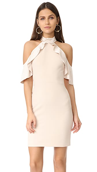 alice + olivia Ebony Cold Shoulder Dress - Champagne