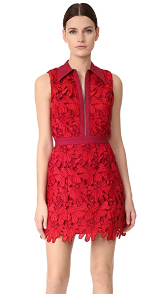 alice + olivia Ellis Zip Front Dress at Shopbop