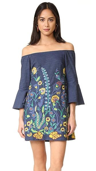 alice + olivia Kyra Flare Sleeve Tunic Dress
