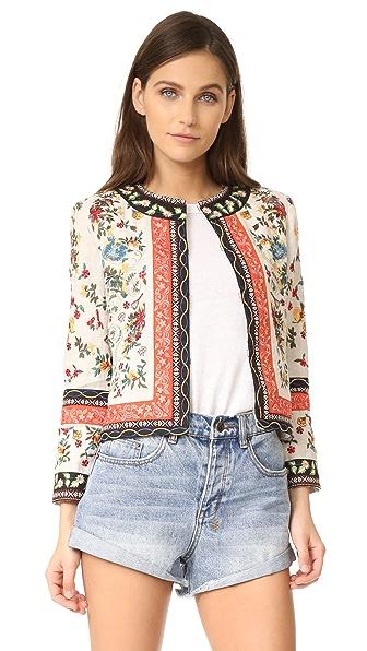 alice + olivia Esme Embroidered Jacket
