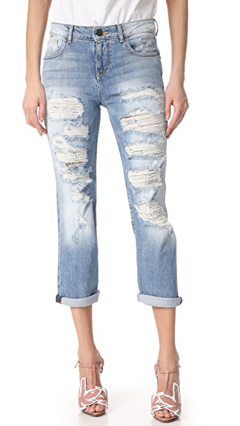 alice + olivia Tommy Boyfriend Distressed Jeans