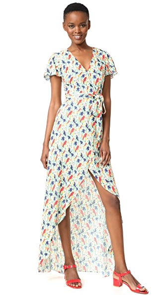 alice + olivia Adrianna Wrap Maxi Dress
