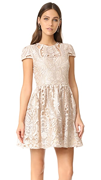 alice + olivia Gracia Full Cap Sleeve Dress at Shopbop