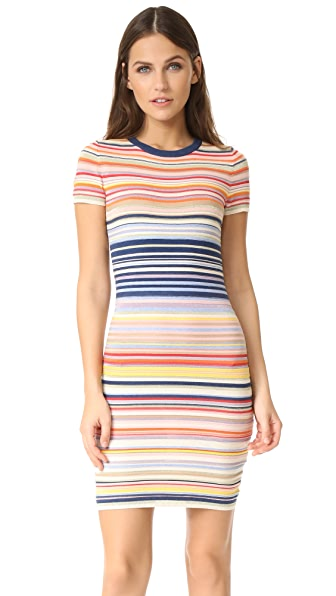 alice + olivia Hayden Striped Dress at Shopbop