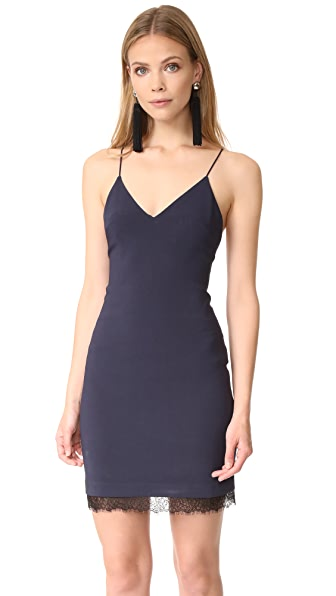 alice + olivia Leigh Low Cross Back Fitted Dress at Shopbop