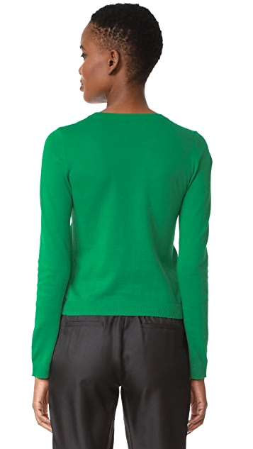 alice + olivia Connie Garden Stace Long Sleeve Pullover