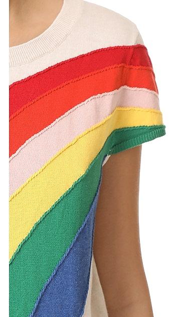 alice + olivia Ester Rainbow Pullover