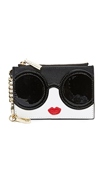 alice + olivia Stacey Face Zip Coin Purse - Multi