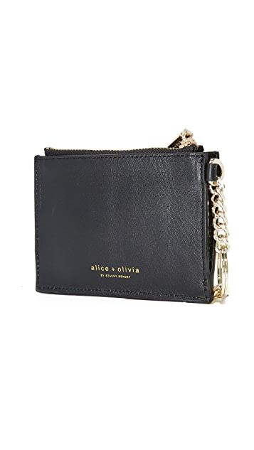 alice + olivia Stacey Face Zip Coin Purse