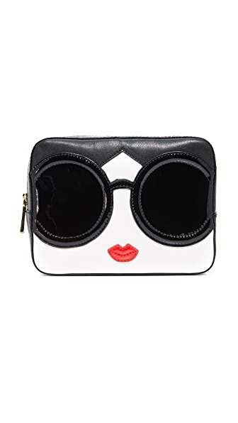 alice + olivia Stacey Face Large Cosmetic Case - Multi