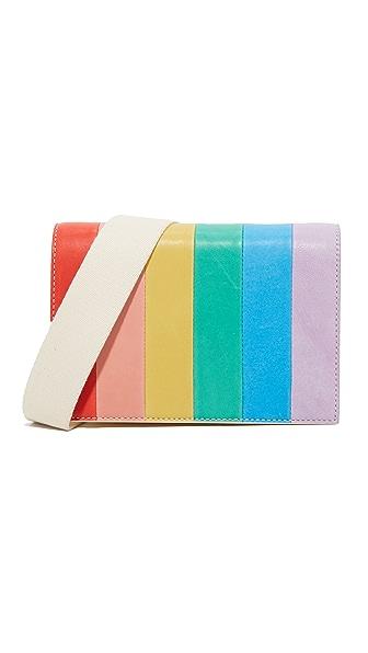 alice + olivia Кожаная сумка через плечо Rainbow