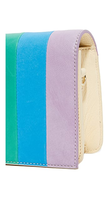 alice + olivia Rainbow Leather Cross Body Bag