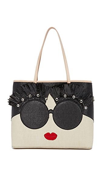 alice + olivia Stace Face Embellished Tote - Multi