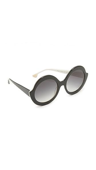 alice + olivia Stacy Sunglasses In Black/Grey