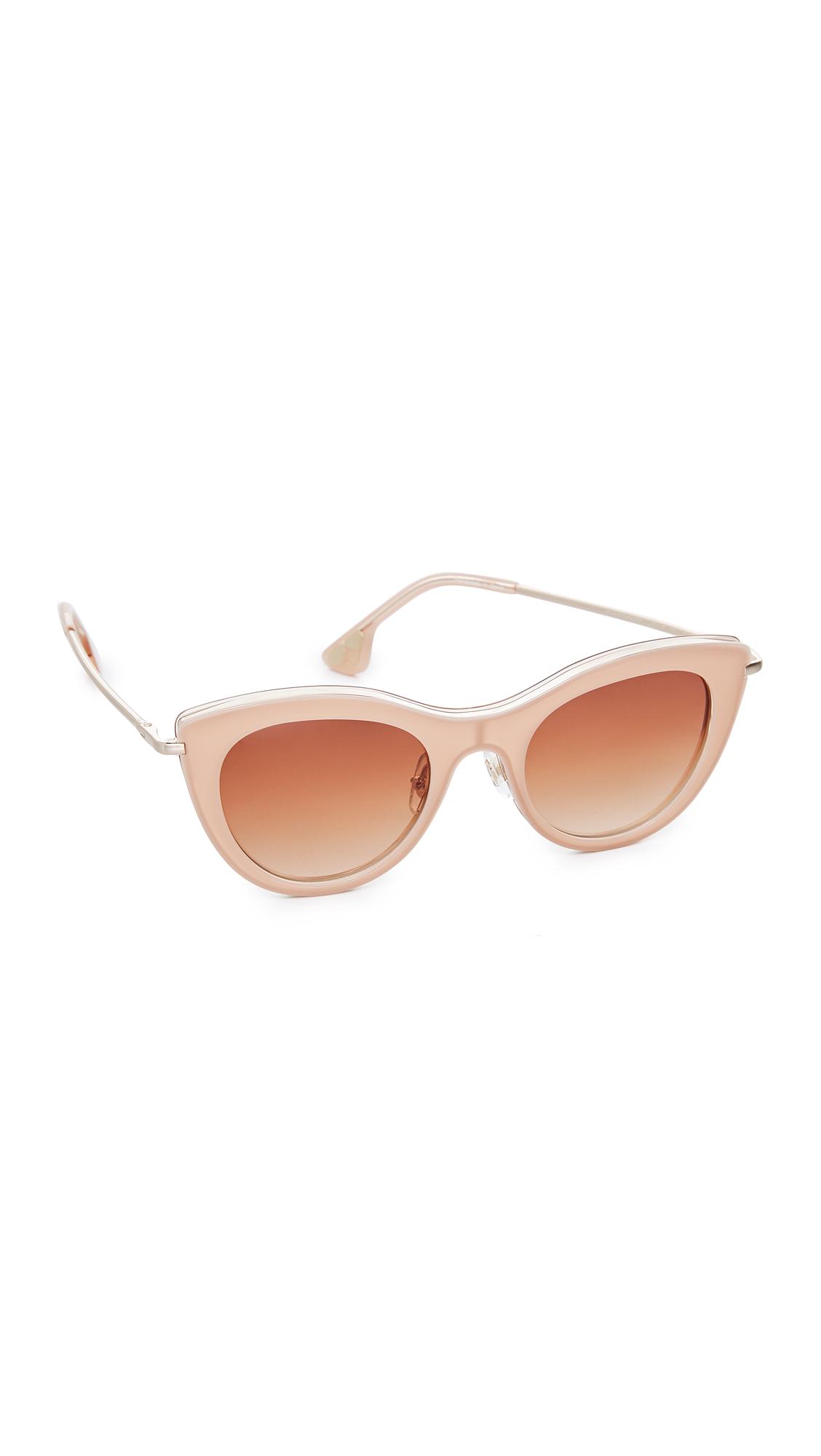 alice + olivia Gansevoort Sunglasses - Blush/Brown
