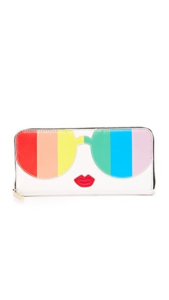 alice + olivia Rainbow Stacey Face Continental Walet