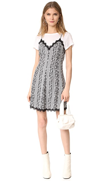 alice + olivia Alves Cross Flare Dress