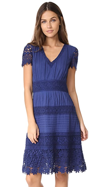 alice + olivia Anabel Flare Dress - Indigo