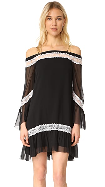 alice + olivia Willie Cold Shoulder Bell Sleeve Dress