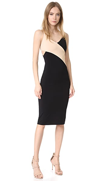 alice + olivia AIR Aurora Fitted Dress with Cutout