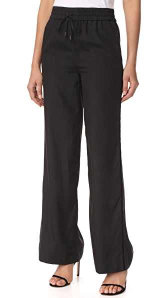 alice + olivia AIR Benny Drawstring Pant with Side Trim