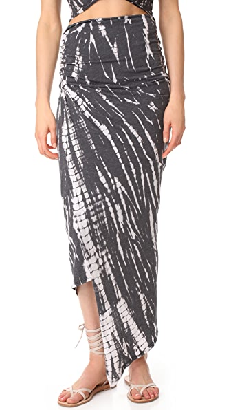 alice + olivia AIR Kay Ruched Convertible Skirt In Black/White