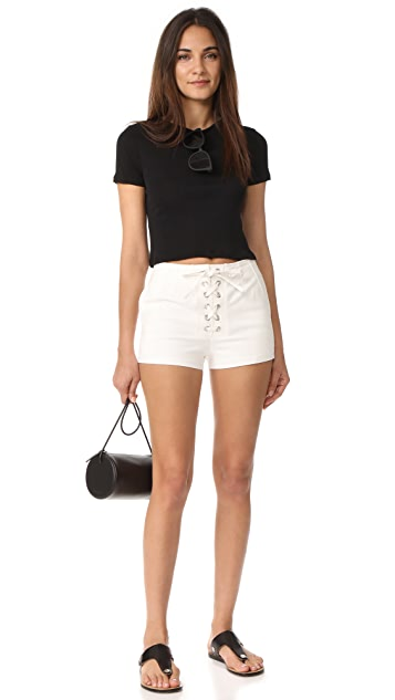 alice + olivia AIR Cindy Classic Cropped Tee