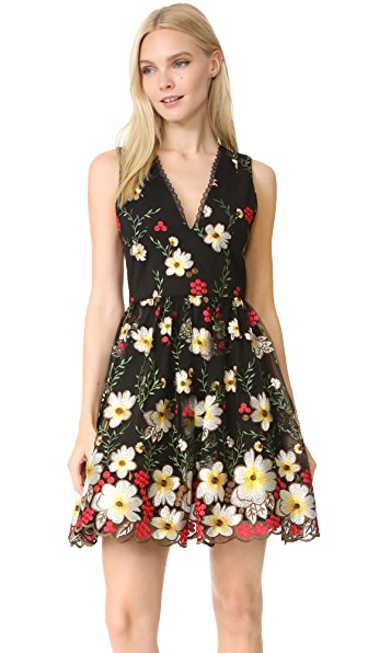 alice + olivia Becca Pouf Dress