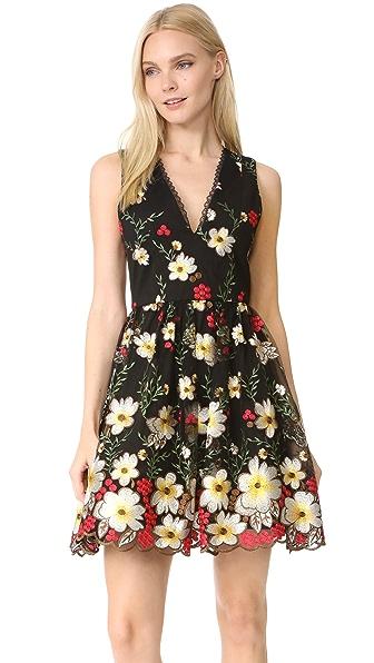 alice + olivia Becca Pouf Dress - Multi