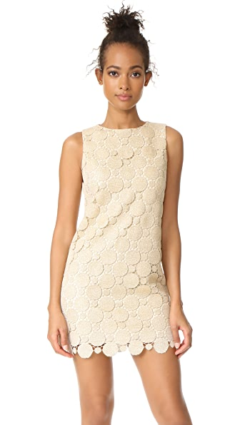 alice + olivia Clyde A-Line Shift Dress In Gold