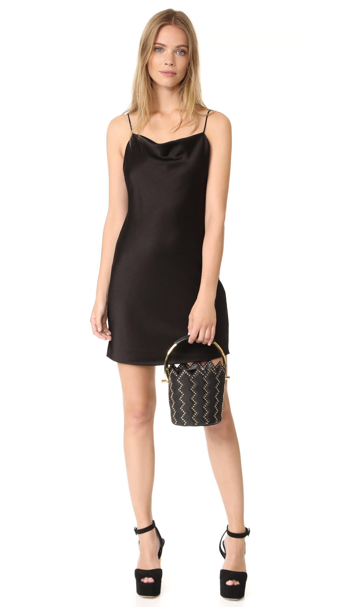 d3a4e63582 alice + olivia Harmony Drapey Slip Dress