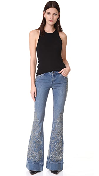 ALICE AND OLIVIA Ryley Studded Jeans