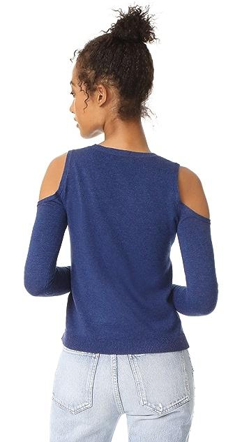 alice + olivia Wade Cold Shoulder Sweater