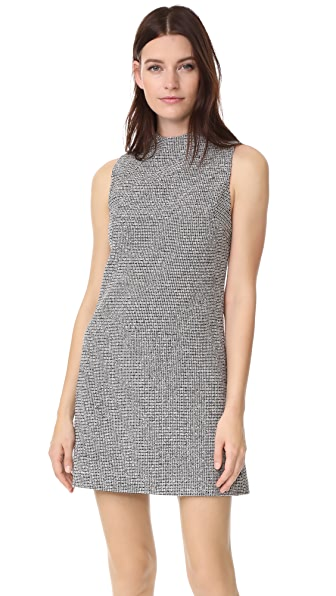 alice + olivia Coley Mock Neck Dress - Black/White