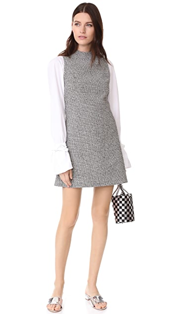 alice + olivia Coley Mock Neck Dress