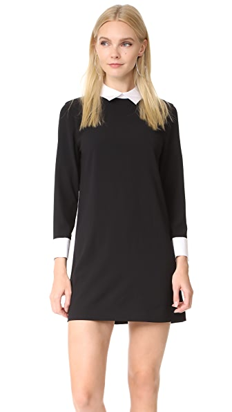 alice + olivia Prudence Shift Dress In Black/White