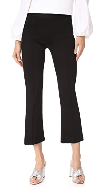 alice + olivia Michiko Front Pintuck Flared Pants
