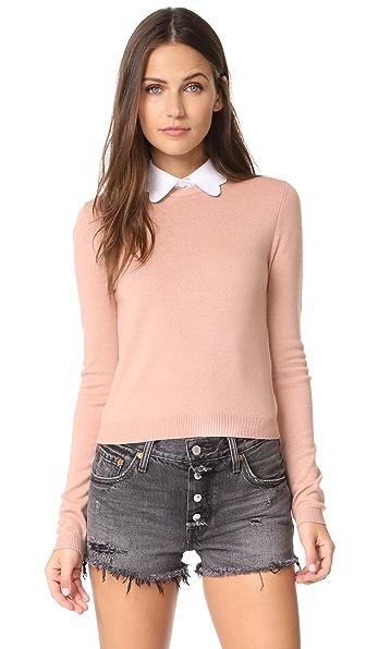 alice + olivia Dia Scallop Sweater